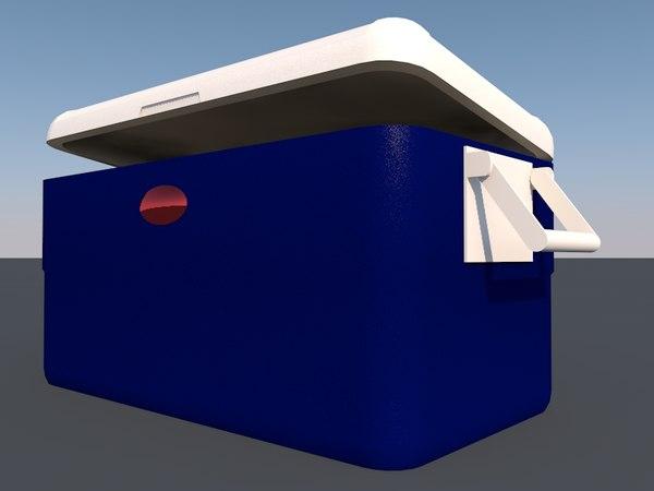 3D model cooler beach
