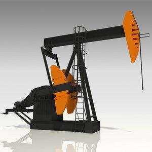 beam pumping 3D model