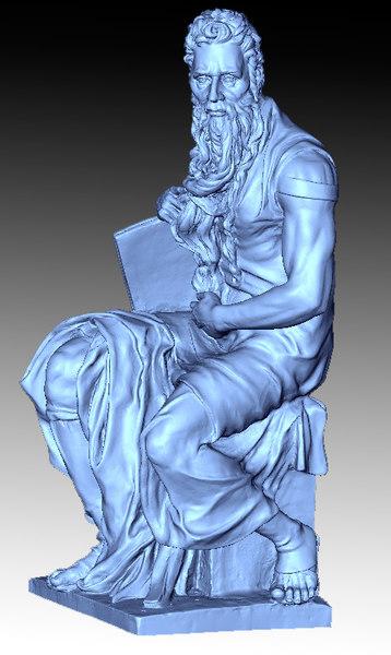 3D model moses sculpture