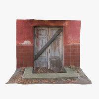 abandoned door 3D model