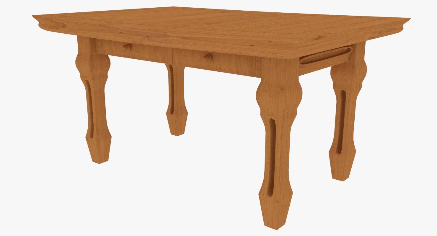 3D wood objects dae model