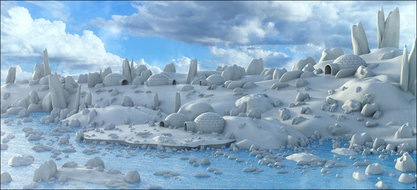 3D model artic environment