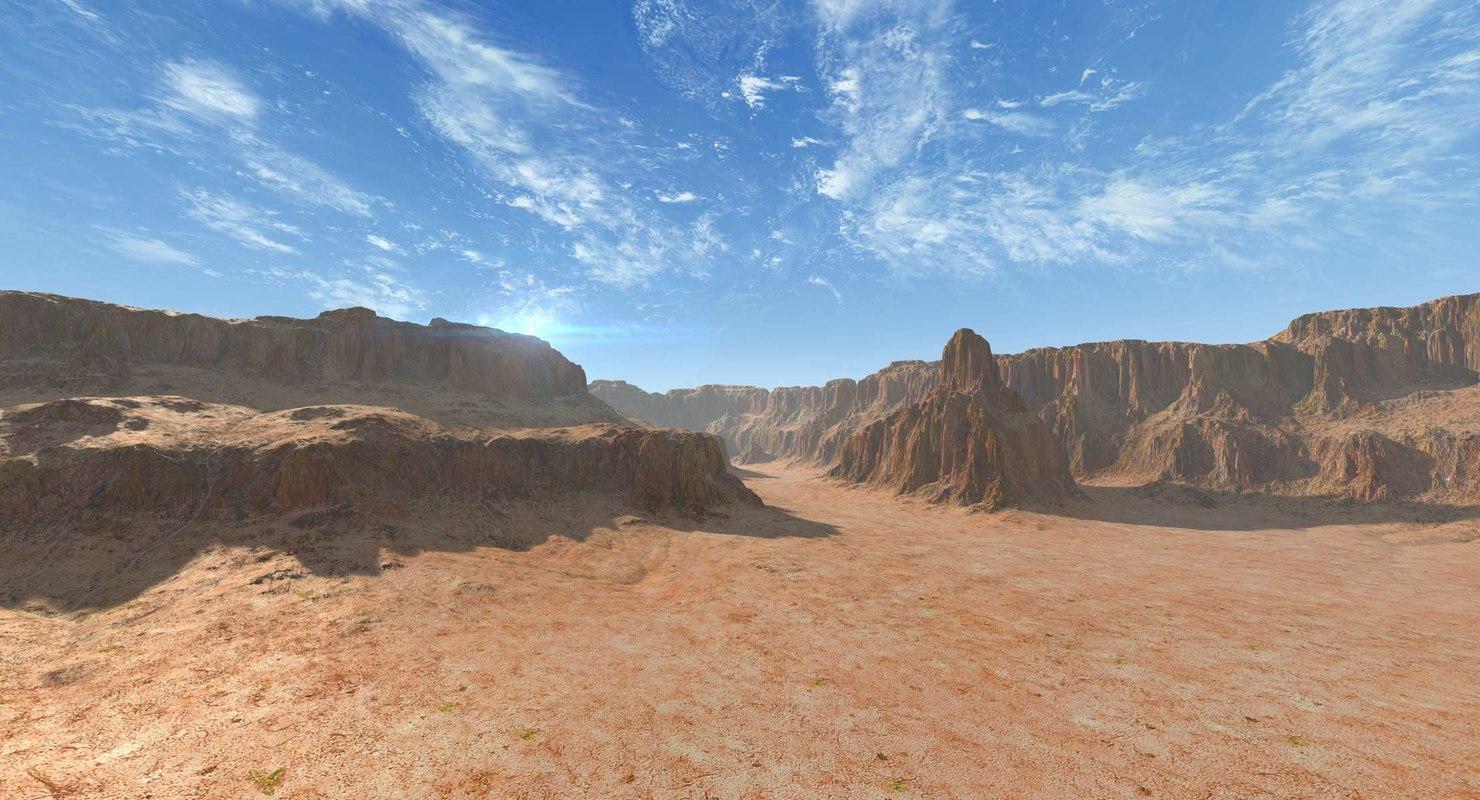 canyons 01 landscape 3D