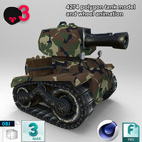 3D tank1 model