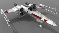 t65 xwing starfighter 3D model