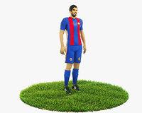 Luis Suarez calciatore personaggio pronto al gioco