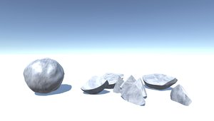 snowball breakable 3D model