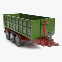 farm trailer 3D model