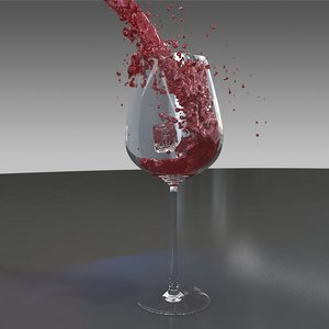 wine pouring model