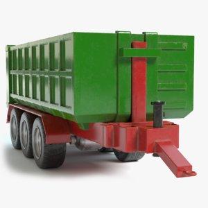 3D farm trailer