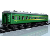3D railcar type 66w passenger model