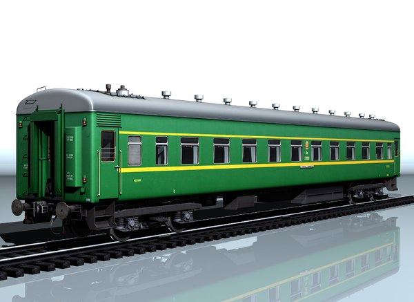 3D railcar type 66w passenger model