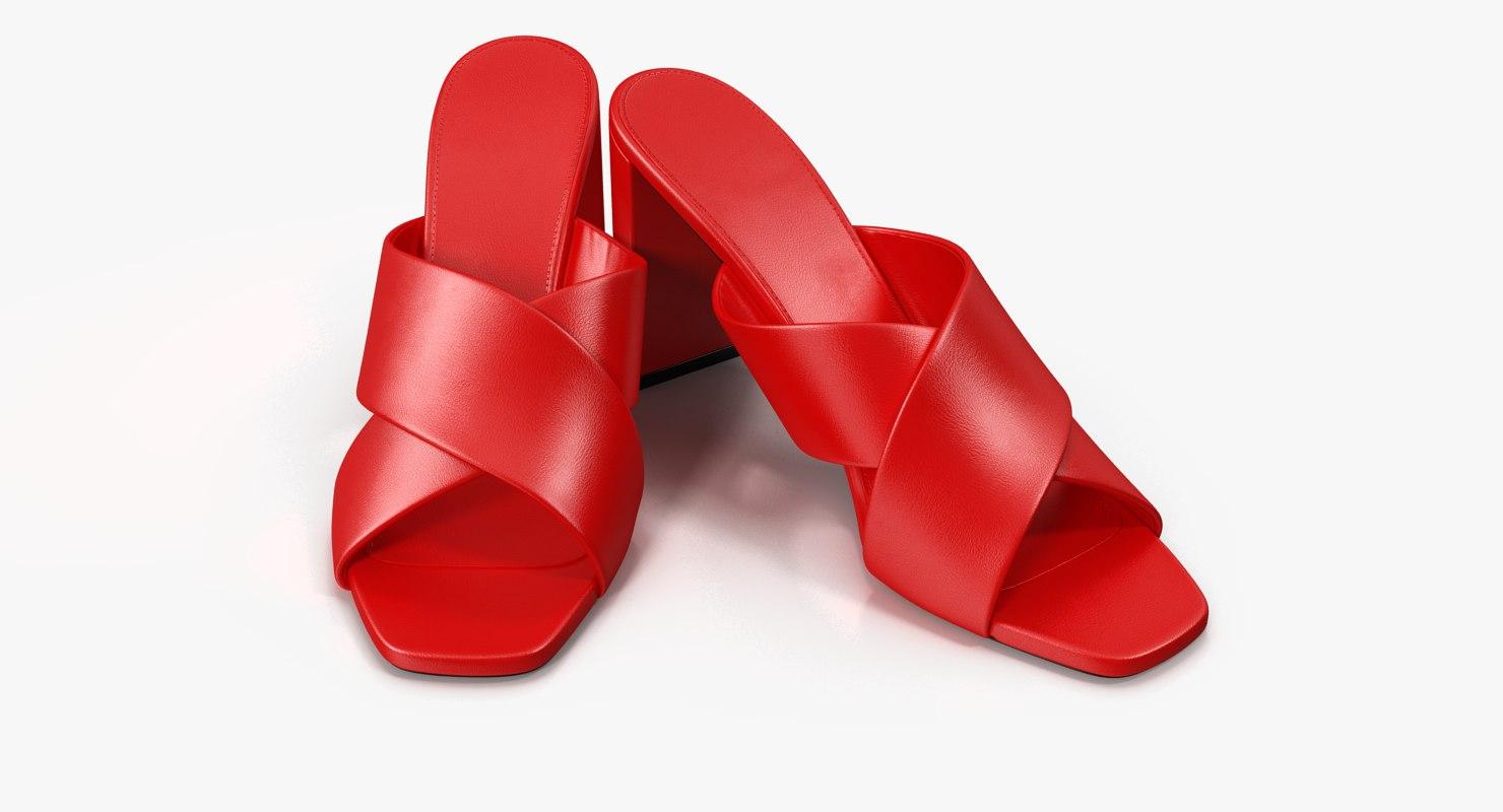 3D women s shoes model