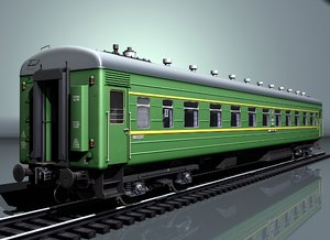 3D model passenger railcar 66w kvz