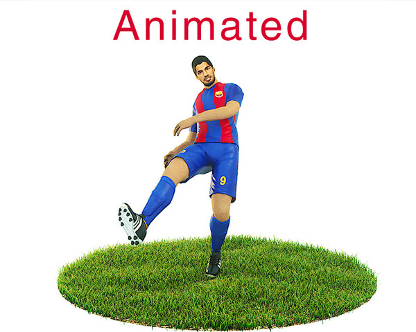 3D ready football soccer player model