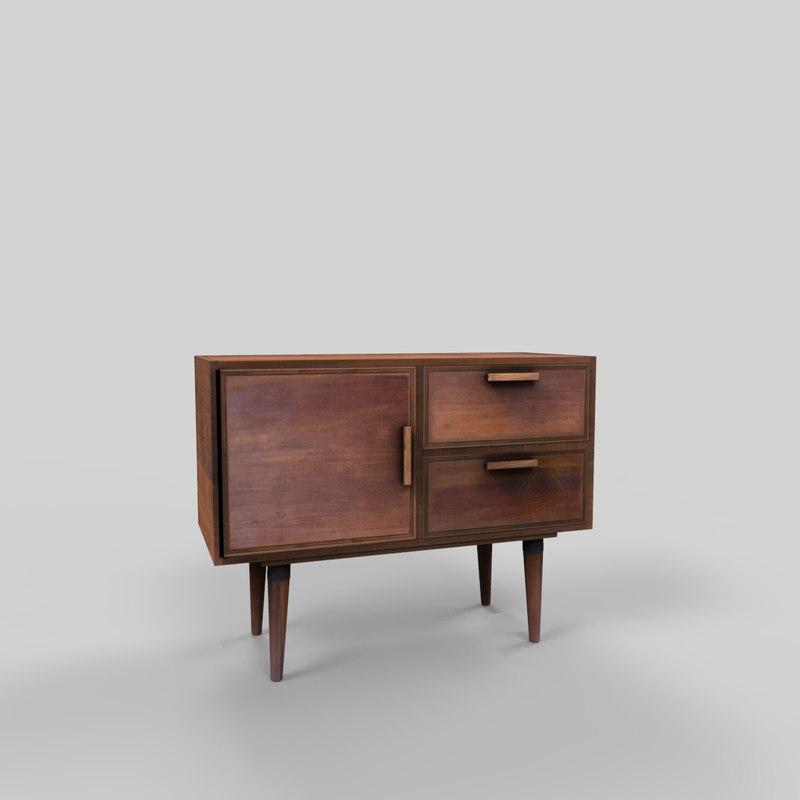 3D wooden cabinet 5 model