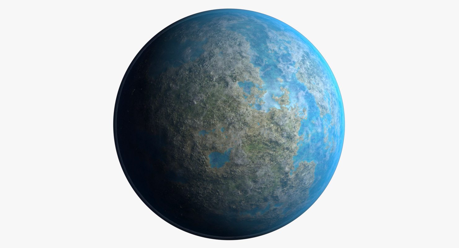 3D space planet