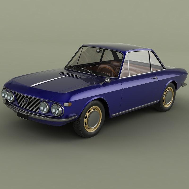 1965 lancia fulvia coupe 3D model