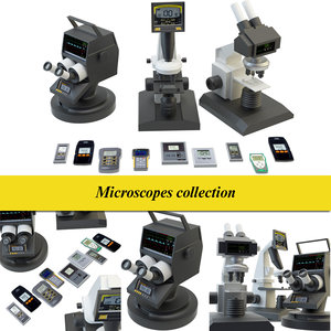 microscope set 3D model