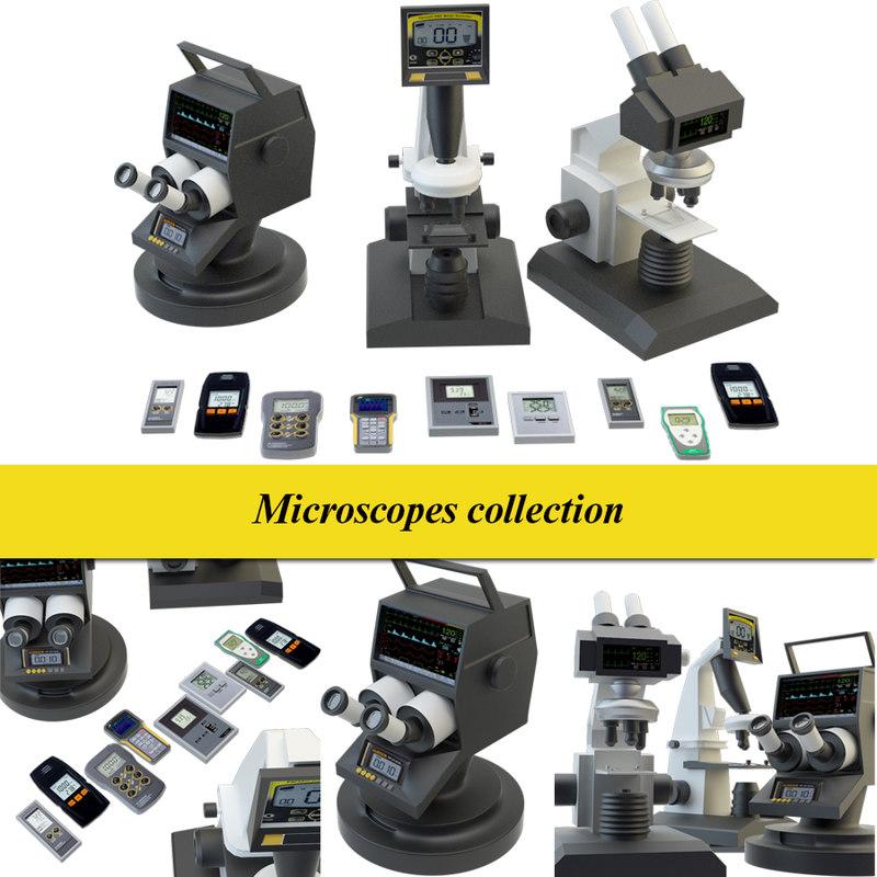 microscope set 3D model