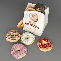 3D donuts food box