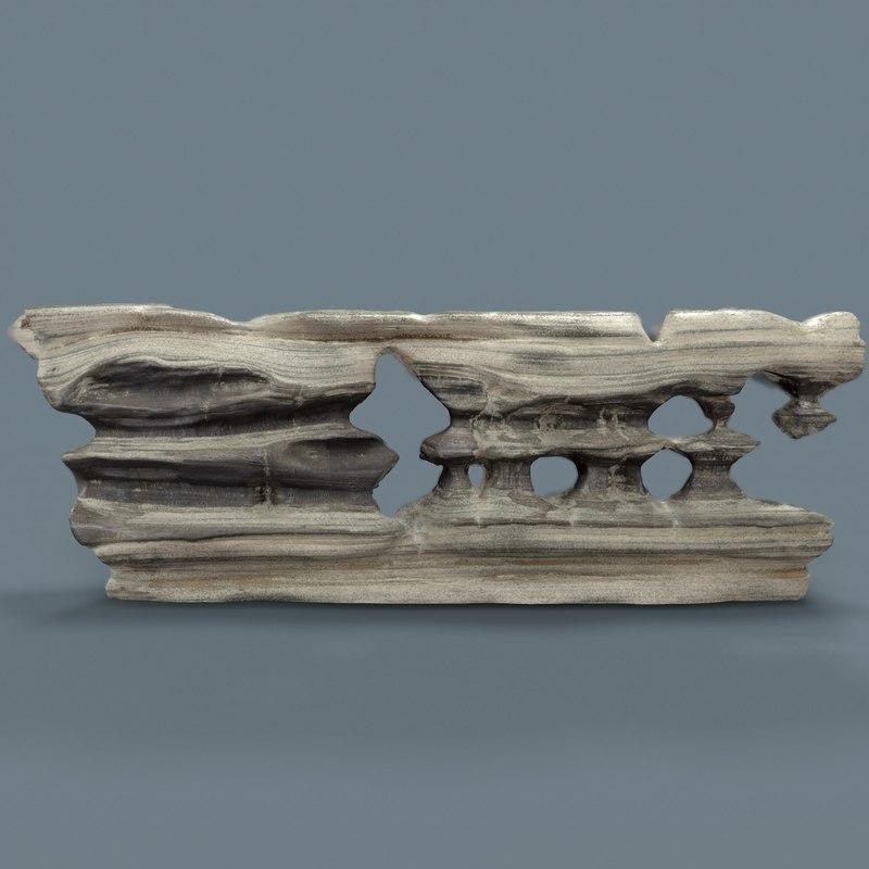 3D suiseki landscapes model