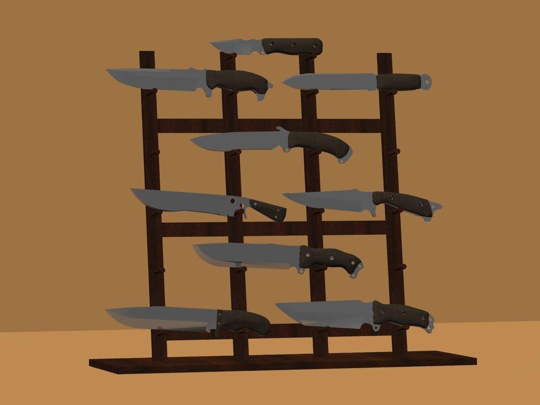 set knives 1 3D model
