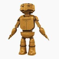 3D model bot robot steampunk