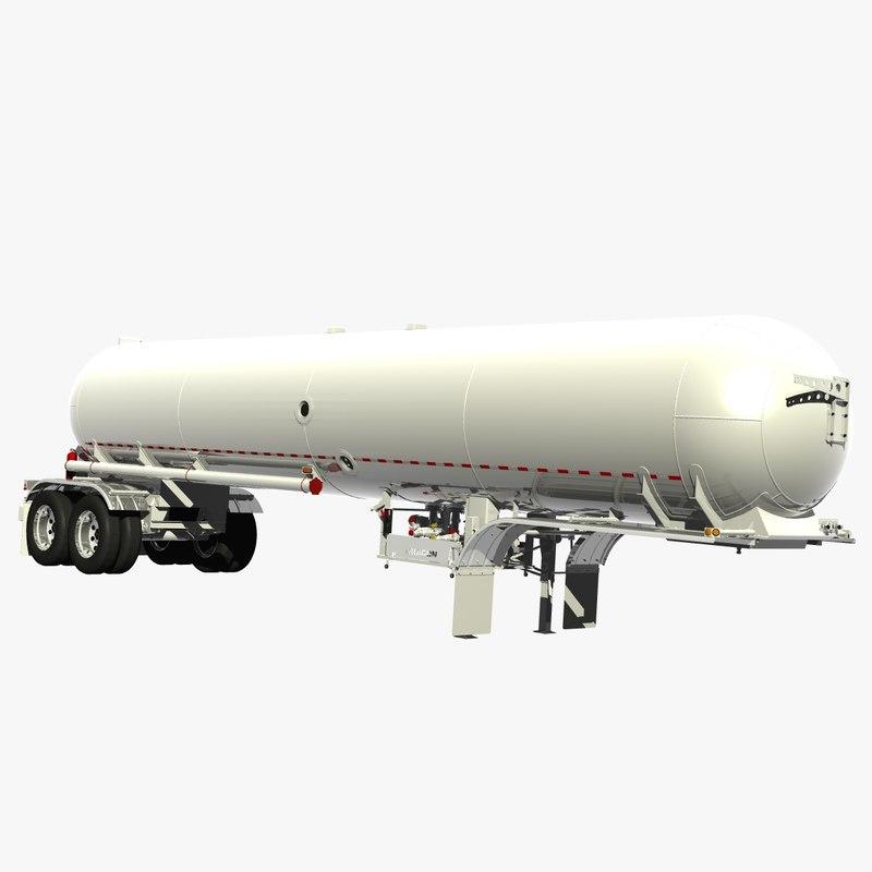 lpg trailer 3D model
