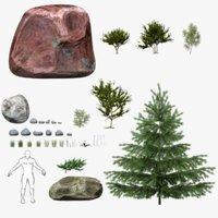 grass ue4 pack 3D model