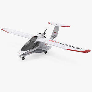 amphibious light sport aircraft 3D model