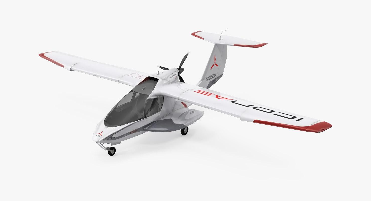 amphibious light sport aircraft 3d model turbosquid 1225550. Black Bedroom Furniture Sets. Home Design Ideas