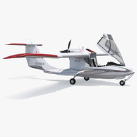 Amphibious Light Sport Aircraft Icon A5 Rigged