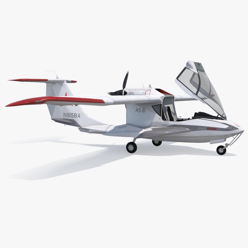 amphibious light sport aircraft 3D