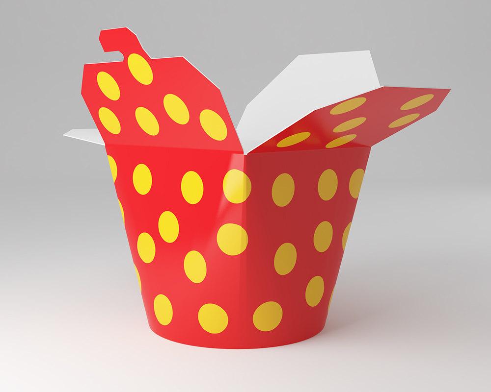 3D wok box