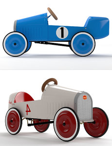 rh montlhery pedal car 3D model