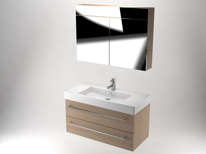 bathroom vanity set 3D model