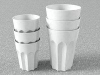 ceramic cups 3D