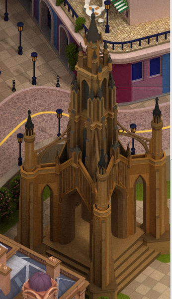 old gothic church 3D