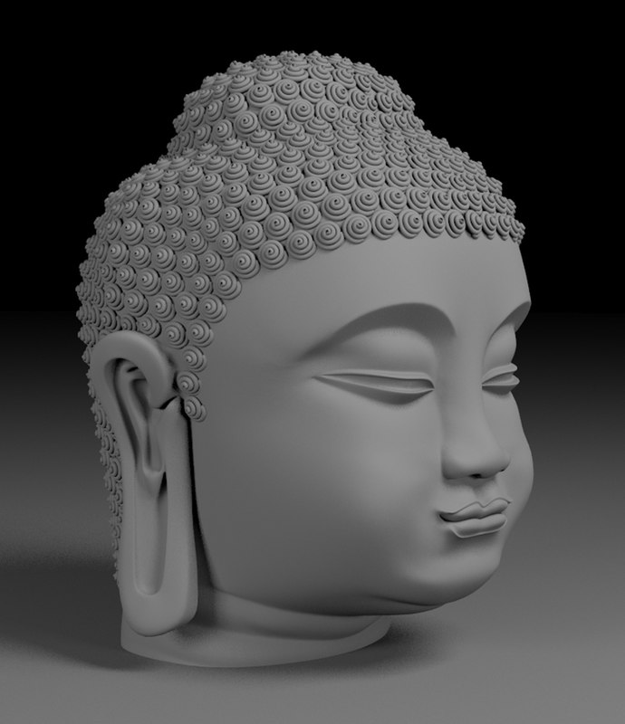 buddha original face 3D model
