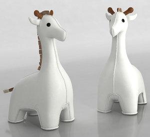 3D zuny giraffe bookend