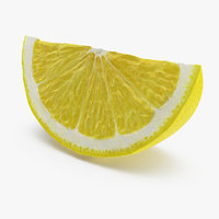 3D lemon slice model