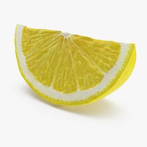 3D lemon slice model