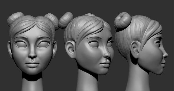 cartoon head 3D
