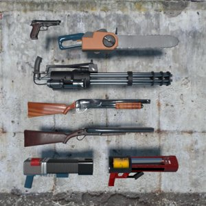 3D classic shooter weapon pack model