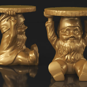3D kartell attila gnome stool