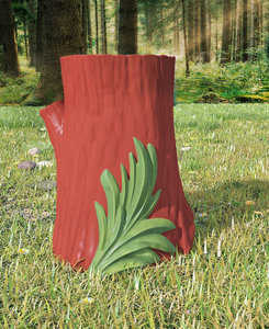 kartell saint-esprit gnome stool 3D model