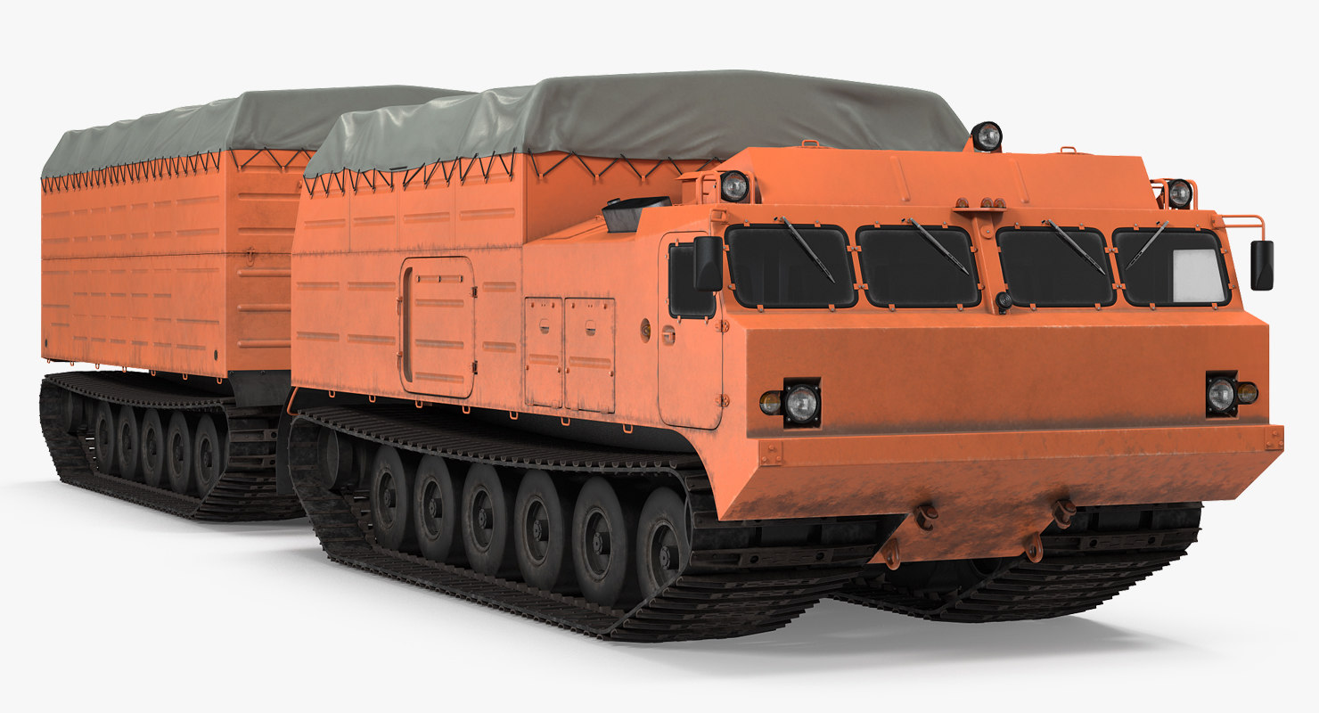 multi purpose articulated tracked vehicle 3D