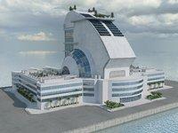 Sci Fi Building 20 HD