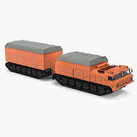 multi purpose articulated tracked vehicle 3D model